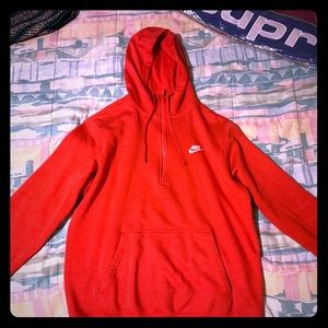 Red Half-Zip Nike Sweater
